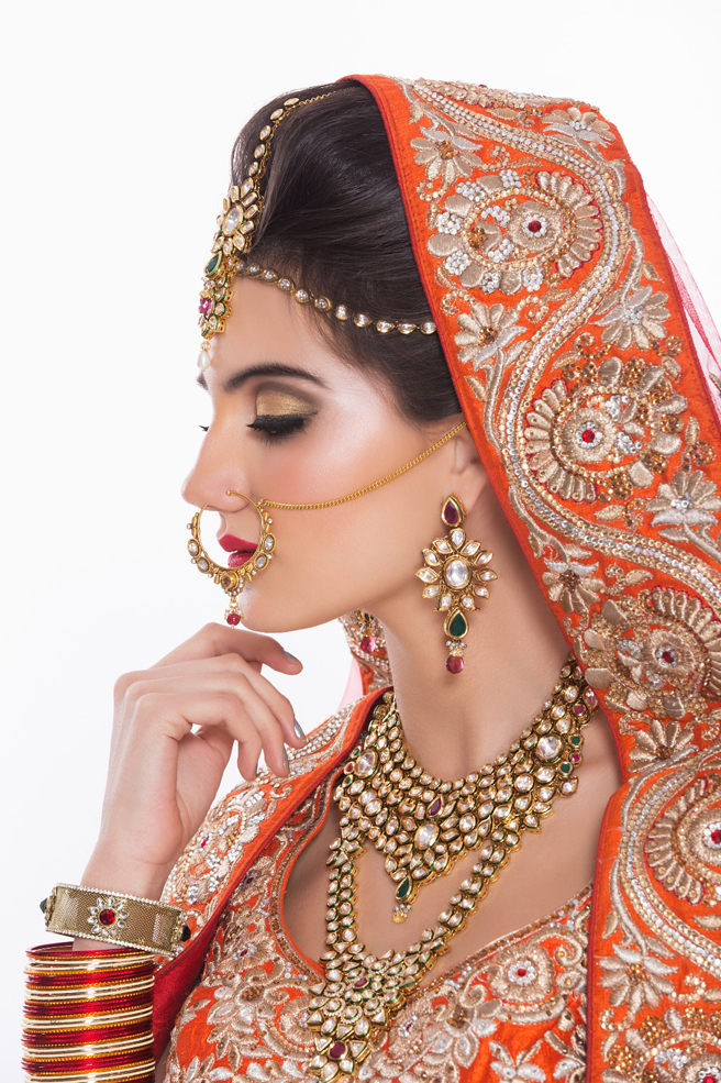 Maialen Langaran International model in Indian bridal wear