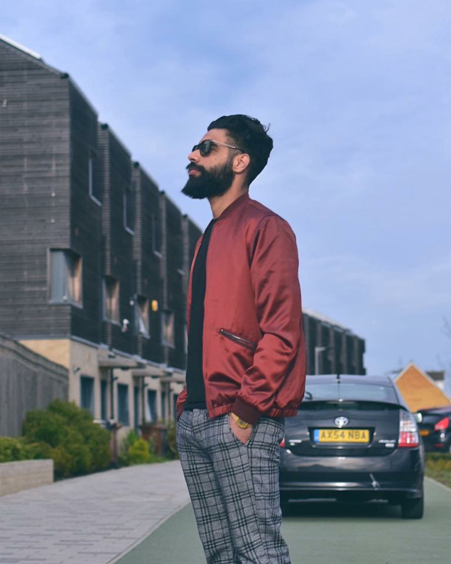 Modeling photograph of London based model and fashion blogger Prahjot Singh Bhullar