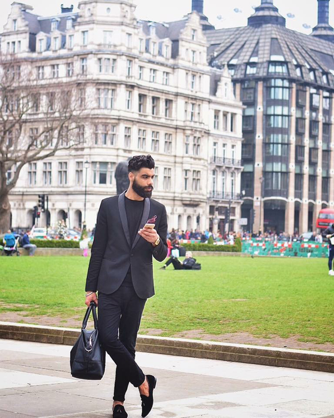 Prahjot Singh Bhullar London based fashion blogger and model