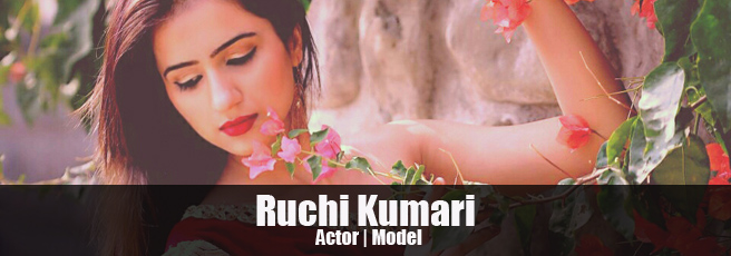 Indian model and actress Ruchi Kumari