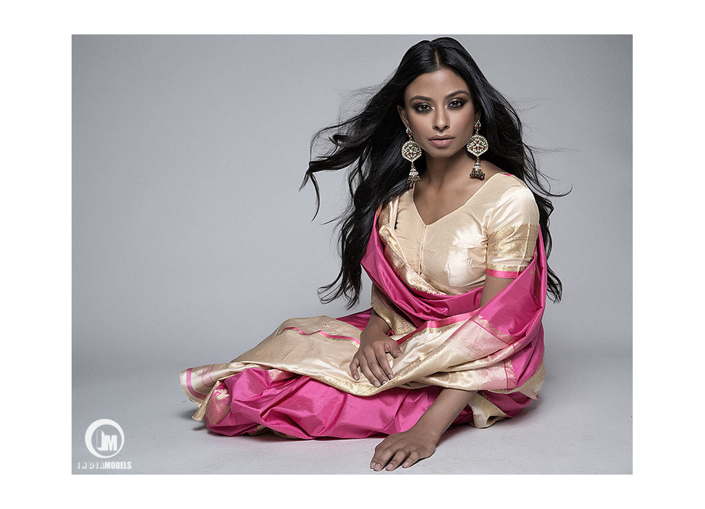 New York based Indian fashion model Sheena Pradhan