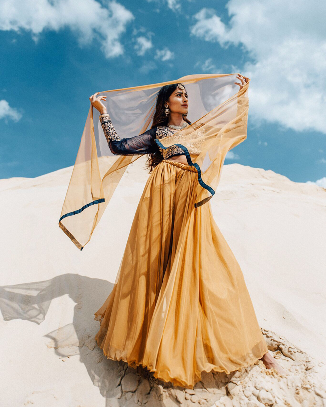 Stunning fashion photography featuing Shubhangi Tyagi  wearing Indian ethnic wear
