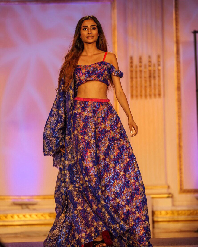 Indian model Shubhangi Tyagi Walking the ramp