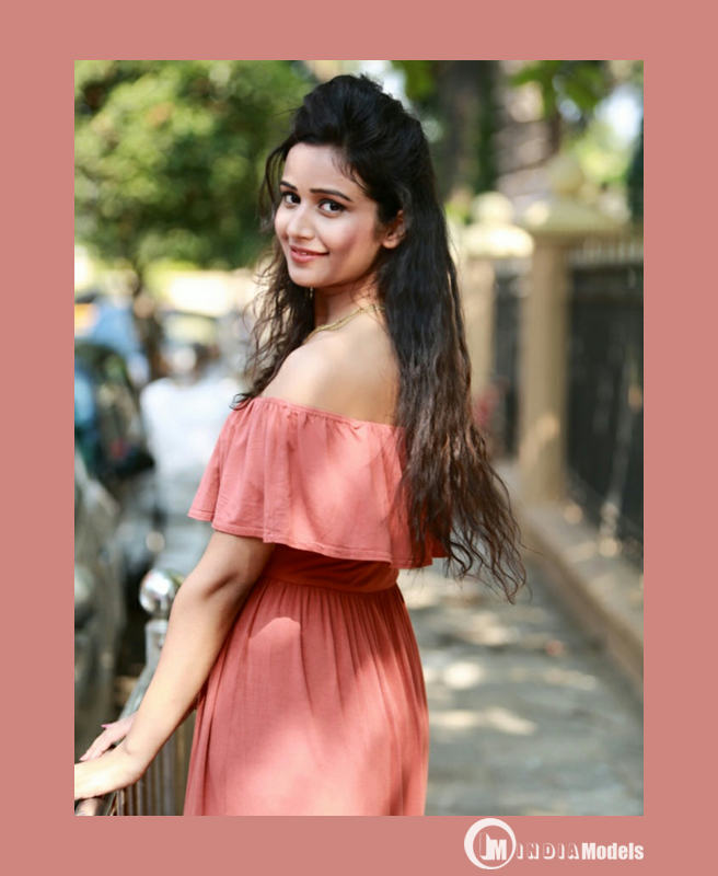Model Simran Gupta in a beautiful pink dress